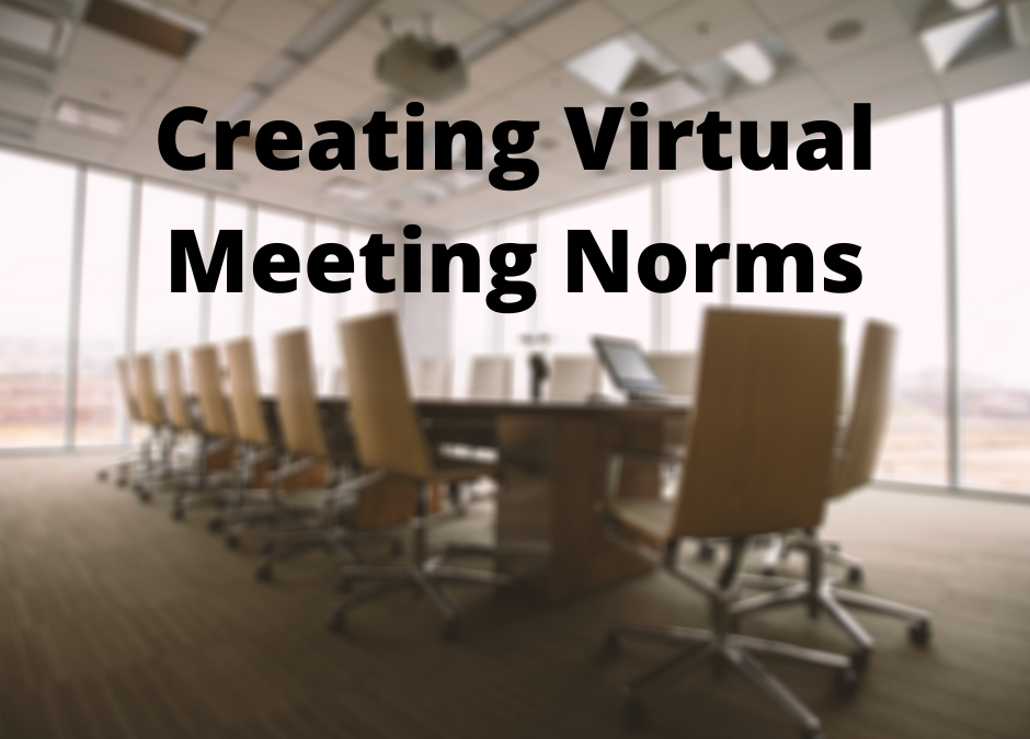 Creating Virtual Meeting Norms